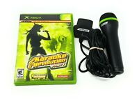 Karaoke Revolution Party & Microphone Bundle - Microsoft Original XBOX FREE S&H!