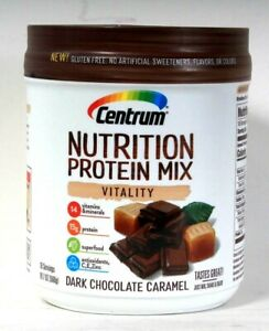 1 Ct Centrum 19.7 Oz Nutrition 15g Protein Mix Vitality Dark Chocolate Caramel