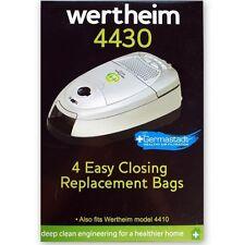 4 GENUINE WERTHEIM GERMASTADT SYNTHETIC VACUUM CLEANER BAGS 4410 4412 4430 W4000