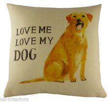 """17 """"Labrador LOVE ME Love il mio cane cuscino Evans Lichfield dp707"""
