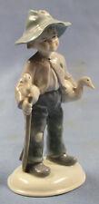 junge mit enten porzellanfigur Porzellan  Metzler Ortloff 1900 figur ente vogel