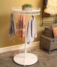 Metal Rotating Clothes Garment Rail Home Shop Storage Display With Shelf Ф70cm