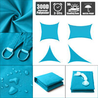 Sun Shade Sail Outdoor Patio Top Canopy Cover 98% Anti-UV Waterproof Blue US