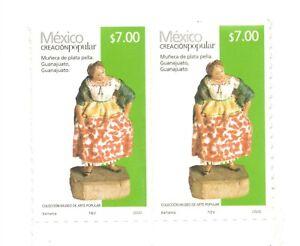 First self adhesive Mexican  Stamp Creacion Popular $7.00  Muñeca 2020 mnh