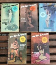 Carter Brown Lot Of 5 1st Printing Pulp Mystery Books 1971-72 Murders Sexy