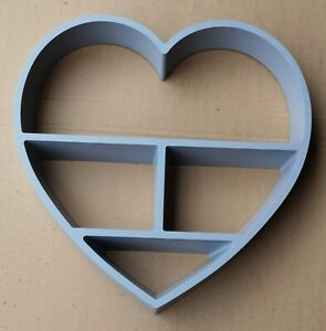 Heart floating shelf 4 Compartment Wall mountable Shelve Decorative wall shelf