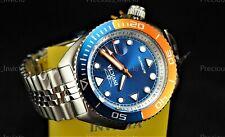 ➤Invicta Men's 47mm Pro Diver SEA WOLF AUTOMATIC Blue & Orange Tone Silver Watch