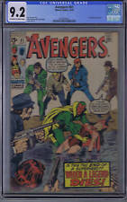 Avengers #81 Marvel 1970 CGC 9.2 (NEAR MINT -) Vision & Scarlet Witch