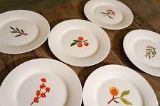 Crate & Barrel Fruit, Sprig, Berries Dessert Plates Set of 6