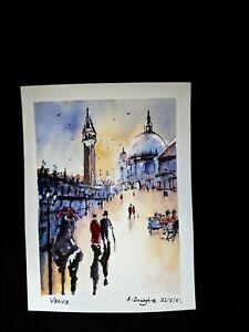 "Original Watercolour Painting ""Venice""."