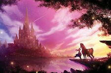 Disney Castle 30x20 Inch Canvas - VERY rare Disney Framed Picture Canvas