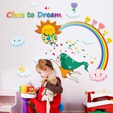 Rainbow Wall Stickers For Kid Room Removable Vinyl Wall Decals Poster Rame