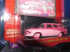 Pink Fever 1960 Rambler American Wagon Johnny Lightning 1 of 2500 1/64 wheel