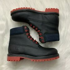 Timberland premium 6 inch boots men's size 9.5 Black & red NWB