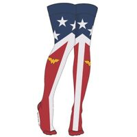 Wonder Woman Suit Up Over The Knee Sock (Pair)) Uniform Logo Costume Adult Gift