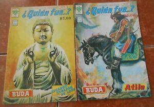 QUIEN comic lot GAUTAMA BUDDHA VINTAGE buddhism BIOGRAPHY art INDIA spiritual