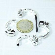 8 Anillos Base Para Cuero 28x8mm T359 Plata Tibetana Ringe sølv Perler Beads