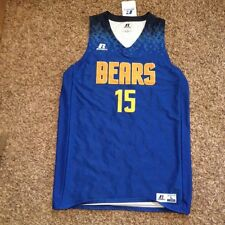 NEW California Golden Bears Men's Large Blue Basketball Fastbreak 2016 Jersey