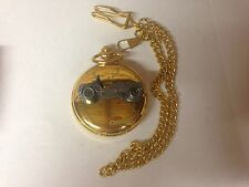 Citroen Mehari ref40 Pewter Effect Car on a polished Gold Case Pocket Watch