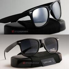 2 MEN Sunglasses Wayfare Dark Black | Mirror FREE Microfiber included