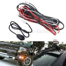LED HID Spot Work Driving light bar Wiring Loom Harness 12V 40A Relay Switch kit
