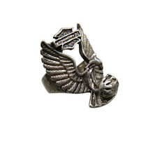 G&S 1985 Vintage Biker Ring Eagle Talons Harley Wing Size 11 Unisex Chunky 10q