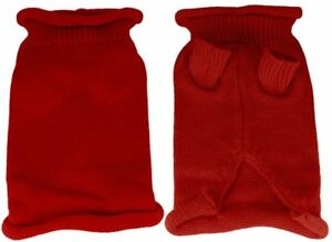 Mirage Pet Products Plain Knit Pet Sweater, Large, Red
