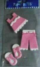 Girl Toddler Pink Top Pants Shoes Pretty Outfit Child Paper Bliss Stickers