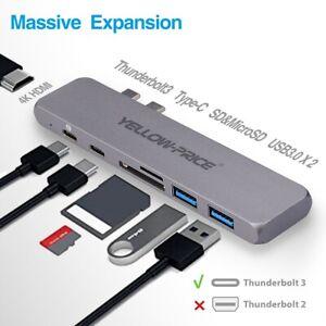 USB C Hub Adapter Dongle for MacBook Air 2020/2019, MacBook Pro 2020/2019-2016
