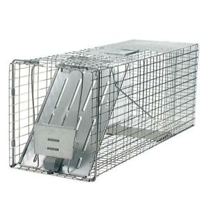 Live Animal Cage Trap Large Raccoon Groundhog Rabbit Pest Hunting Catcher Cats