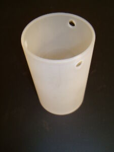 Lampenschirm, Leuchtenglas Zylinder Halogenleuchte Weiß, 3 x 5 mm Löcher
