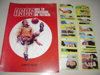 WORLD CUP MEXICO 70 PERUVIAN EDITORS empty album + set of figures 100% complete
