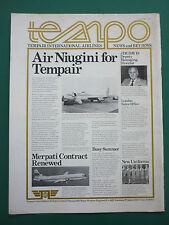 1/1976 PUB TEMPAIR AIRLINES AIR NIUGINI BOEING 720B AIRLINER MERPATI VANGUARD AD
