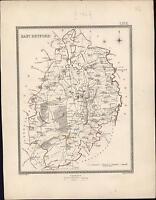 1835 J & C Walker Antique Map of East Retford, Nottinghamshire, England