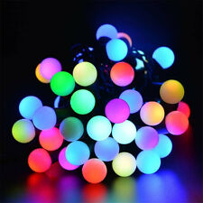 Solar String Garden Fairy Lights 20 LED Waterproof 16ft Crystal Ball Multi-color