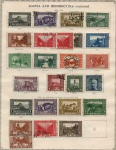 BOSNIA & HERZEGOVINA: 1906-1912 - Ex-Old Time Collection - 2 Sides Page (37589)