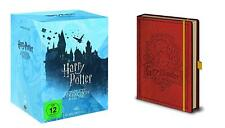 HARRY POTTER 1 2 3 4 5 6 7 8 COMPLETE COLLECTION +NOTIZBUCH DVD Geschenk Box Set