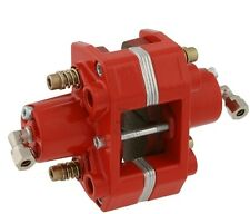 Brake caliper hydraulic red 2-piston for Go-Kart with pads