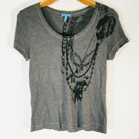 ESCADA Sport Designer T-Shirt Top Black Short Sleeve Womens Size M crystals