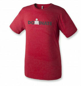 """IRONMAN Triathlon Men's """"Dominate"""" T-Shirt - Red *New with Tags*"""