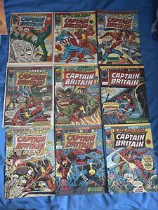 Captain Britain Comics #3,4,7,9,10,12,14,16,19