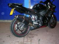 YAMAHA YZF-R6 2003-2005 Black Tri-oval ROAD LEGAL/RACE MTC Exhaust