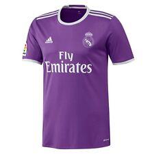 Camisetas de fútbol de clubes españoles de manga corta color morado