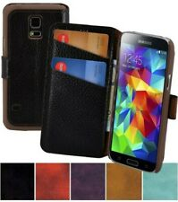 Samsung Galaxy S5 Mini Case Book Real Leather Cover 1A Wallet Case
