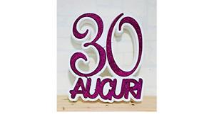 decorazione polistirolo 30 auguri fucsia festa decorazione tavolo
