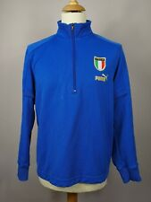 Italy 2004/2006 1/2 Zip Training Top Jacket Football Blue XL Vintage Soccer