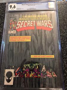 Marvel Super Heroes Secret Wars 4 CGC 9.6 NM+ Hulk Classic Cover Layton Avengers