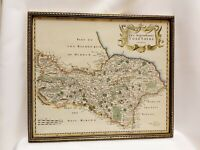 Antique Print Map of North Riding of Yorkshire Framed