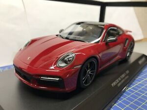 1/18 MINICHAMPS - 2020 PORSCHE 911 (992) TURBO S - RED - NEW - LIMITED EDITION