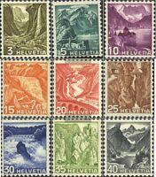 Schweiz 297-305 (kompl.Ausgabe) gestempelt 1936 Landschaften